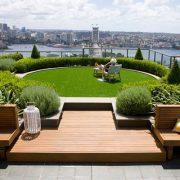 طراحی فضای سبز و محوطه سازی در پشت بام